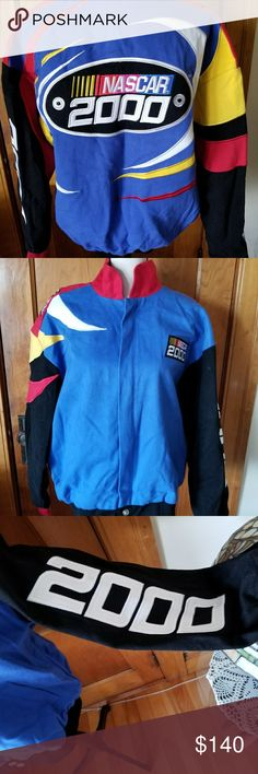 NASCAR men's racing jacket This coat is in mint condition considering it is 17 years.   It has been in the back of my closet with a cover.   The colors are vibrant.  It is a small but is more like a medium. Chase Jackets & Coats Bomber & Varsity