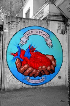 Montevideo pics, free for personal use, available on our site for professional use! GRAFFITI ART HEART TURQUOISE RED