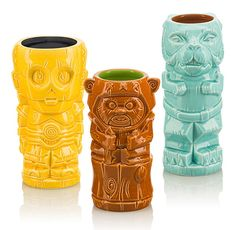 """Star Wars Geeki Tiki Mugs Take The Edge Off Our Summer-Long Thirst For """"The Last Jedi"""" Is there an endearing charm of summertime these kitschy Star Wars Geeki Tiki Ceramic Mugs don't honor in fine nerdy fashion? Star Wars Kitchen, Tusken Raider, Star Wars Merchandise, Disney Merchandise, Star Wars Christmas, Star Wars Games, Star Wars Celebration, Star Wars Birthday, Star Wars Characters"""