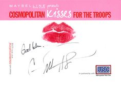 Carrie Underwood #kissesforthetroops    Submit your virtual kiss now at Cosmopolitan.com/kisses & we'll donate a dollar to USO!