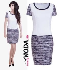 Elegantné čierno-biele šaty do práce v dĺžke nad kolená - trendymoda.sk Skirts, Fashion, Moda, La Mode, Skirt, Fasion, Fashion Models, Trendy Fashion, Skirt Outfits