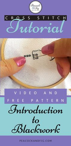 Cross stitch tutorial about the basics of blackwork. Includes a free pattern!