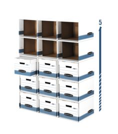 Fellowes Bankers Box File/Cube Box Shell - Letter/Legal Size - Stackable Up To 5 Shells - Steel Support Frame - Pack Office Storage, Cube Storage, Closet Storage, Office Organization, Storage Drawers, Storage Boxes, Organizing Ideas, Storage Ideas, Organizing Clutter