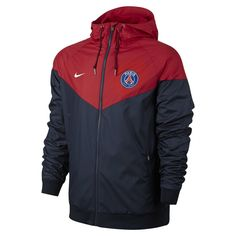 Veste Coupe-vent Nike Paris Saint-germain Authentic Windrunner - - Taille : S; Nike Windrunner, Windrunner Jacket, Psg, Hoodie Outfit, Red Hoodie, Paris Saint, Sweat Shirt, Sweat Cool, Chaleco Casual