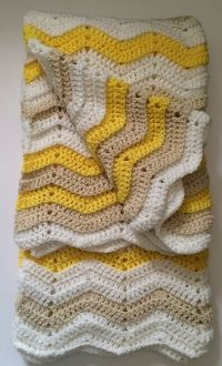 Yellow and Brown Crochet Baby Blanket is the perfect gender neutral baby afghan.