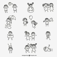 Cute Doodles Vectors, Photos and PSD files