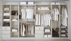 1. Linen press 2. Shelved robe unit 3. Double hanging robe 4. Pull-down hanging rail 5. Single hanging robe 6. Internal 3 drawer chest 7. Shelving 8. Double hanging robe 9. Pull-out 3 tier shoe rack (5 tier option also available) 10. Single hanging robe (with top shelf removed) 11. Soft close pull-out wire baskets 12. Flyover shelf 13. Pull-out swivel mirror