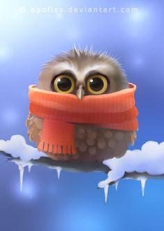 little owl by Apofiss on DeviantArt