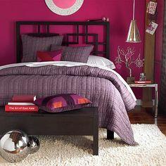 WestElm Purple Bedroom