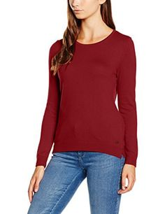 edc by ESPRIT 076CC1I002, Pull Femme, Rouge (BORDEAUX RED), 38 (Taille fabricant: Medium): Tweet