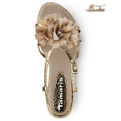 Metallic flat sandals from Tamaris