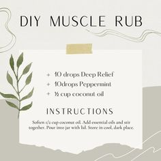 Try this muscle rub after the gym...soothing and cooling...feels so good. More DIYs over at my blog www.theoildropper.com Yl Essential Oils, Young Living Essential Oils, Essential Oil Diffuser, Diffuser Recipes, Aromatherapy, Peppermint, Diys, Feels, Essentials