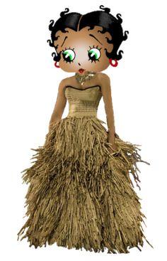Betty Boop Maori Girl ~ New Zealand ~ #cartoons #bettyboop #illustration ✿⊱╮