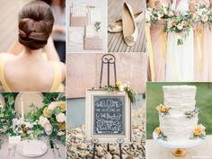Buttercream wedding inspiration board