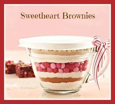 Trying to find the perfect Valentine's Gift for your child's teacher or for a dear friend? Why not get them a Small batter ($12.50) bowl filled with the makings for Sweetheart Brownies! Every order with the small batter bowl will receive the printable Sweetheart Brownies Gift Tags (via email) with directions on how to make the mix AND bake the brownies! - http://www.pamperedchef.biz/michellesmithpc