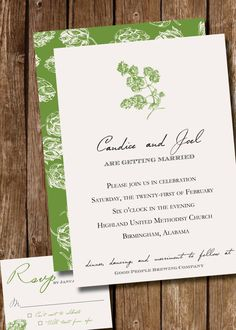 Beer lover / hops / Wedding Invitation by PaigesPaper on Etsy