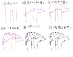 How to draw: skirt Manga Drawing Tutorials, Manga Tutorial, Art Tutorials, Manga Clothes, Drawing Clothes, Drawing Poses, Drawing Tips, Art Reference Poses, Drawing Reference