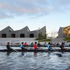 Studio Gang's WMS boathouse at Clark Park, Chicago