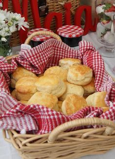 Gingham Farm Party - serving scones