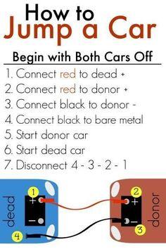 #TeachingTuesday #cars #automobile How to jump a car.