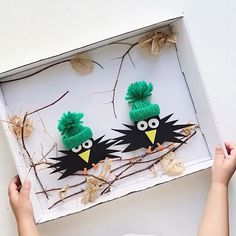 These are hysterical! Maybe art club? Projects For Kids, Diy And Crafts, Crafts For Kids, Arts And Crafts, Paper Crafts, Autumn Crafts, Nature Crafts, New Year's Eve Activities, Lavender Crafts