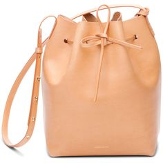 Mansur Gavriel Vegetable-Tanned Leather Bucket Bag ($595) ❤ liked on Polyvore featuring bags, handbags, shoulder bags, handbags bucket bags, zipper pouch, zip pouch, shoulder handbags, red leather purse and leather hand bags