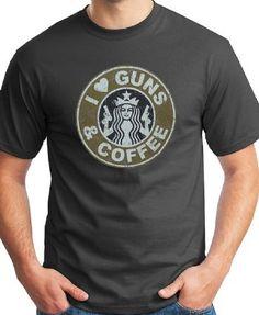 "i love guns and coffee sweatshirt | Love Guns & Coffee"" Men's T-Shirt - - Sportco Warehouse Sporting ..."
