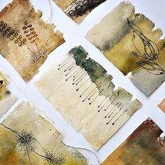 Tea Bag Art, Tea Art, Mixed Media Collage, Collage Art, Watercolor Texture, Watercolor Art, Coffee Filter Art, Used Tea Bags, Recycled Art