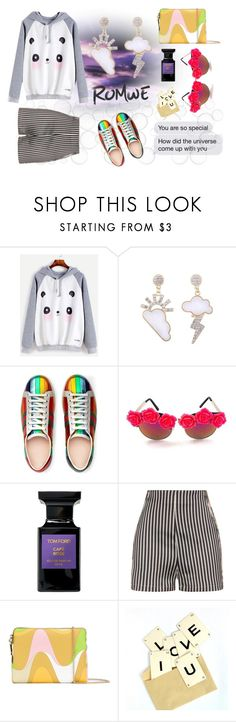 """Oh, I'm a Panda"" by love-kaleidoscope ❤ liked on Polyvore featuring Gucci, Gasoline Glamour, Tom Ford, La Perla and Emilio Pucci"
