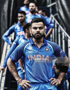 Virat Kohli, captain of India waits to lead his team out against Pakistan ahead of the ICC CHampions Trophy match between India and Pakistan at Edgbaston on June 2017 in Birmingham, England. Get premium, high resolution news photos at Getty Images India Cricket Team, Cricket Sport, Cricket News, Virat Kohli Quotes, Virat Kohli Instagram, Virat Kohli And Anushka, Virat Kohli Wallpapers, Cricket Wallpapers, Ab De Villiers