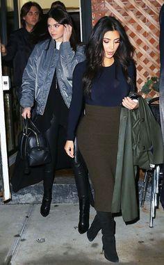 Sister Act: Kim Kardashian's Mommy Style