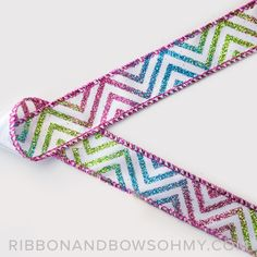 Wired Glitter Chevron! Ribbon And Bows Oh My!