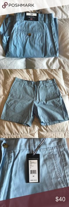 """Classic Fit 7"""" Breaker Shorts Vineyard Vines!!  Brand new, purchased for my husband and he didn't like them!  Size 34 Vineyard Vines Shorts Flat Front"""