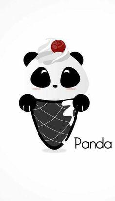 Ahhhh this is sooo cute! Panda Wallpapers, Cute Wallpapers, Cartoon Panda, Cute Cartoon, Kawaii Drawings, Cute Drawings, Panda Kawaii, Cute Panda Wallpaper, Panda Bebe