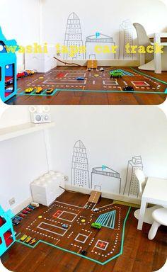 Proyectos con washi tape DIY: ciudad de juegos niños