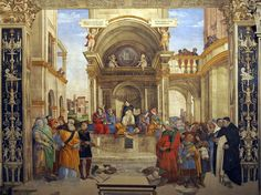 Filippino Lippi, 1457-1504, Italian, Triumph of St Thomas Aquinas over the Heretics, 1489-91.  Fresco.  Santa Maria sopra Minerva, Rome.  Early Renaissance.