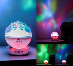 Deneve Night Light Projector, Mood Lighting Lamp Trippy Ambient Color Changing LED for Baby Teens Boys Girls Starry Galaxy with Music Player Northern Lights From Space, Northern Lights Norway, Night Light Projector, Projector Lamp, Star Night Light, Stars At Night, Aurora Borealis From Space, Borealis Lights, Northen Lights
