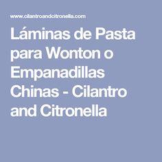 Láminas de Pasta para Wonton o Empanadillas Chinas - Cilantro and Citronella