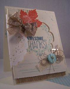 Awesome Thanks by Robin Lee - Cards and Paper Crafts at Splitcoaststampers