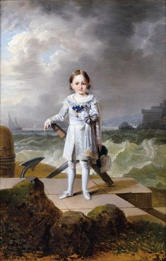 Napoleon-Louis, Napoleon's nephew (and step-grandson), was the son of Hortense Beauharnais and Napoleon's brother, Louis. He was Empress Josephine's 1st grandchild, and Napoleon's default heir to the French Empire. He died a couple years after this picture was painted. After his death, his brother Louis-Napoleon became Napoleon's heir--until Napoleon's son was born.