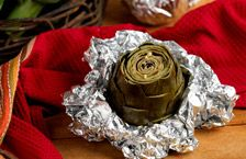 Baked artichokes - the garlic, the olive oil - there is nothing wrong with this simple recipe.