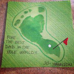 Baby footprint golf artwork
