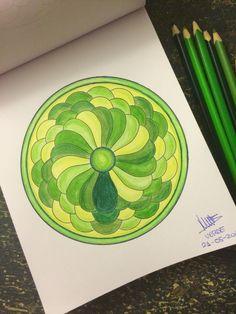 Mándala 09  Verde