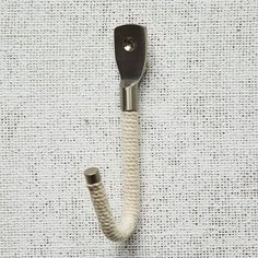Rope + Metal Hook - Cotton | west elm - lakehouse-y!