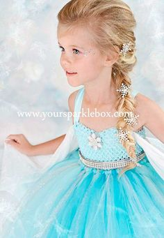 Queen Elsa Tutu Dress Costume by YourSparkleBox.Halloween costume for one of the girls Vestido Elsa Frozen, Princesa Elsa Frozen, Frozen Dress, Elsa Dress, Dress Up, Costume Halloween, Cute Costumes, Halloween Kids, Kids Elsa Costume