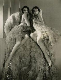 Vintage Print - Burlesque - Flapper - Showgirl - 1920's