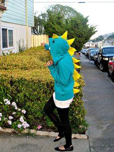 DIY Animal Costume : DIY: Dinosaur Hoodie : DIY Halloween