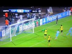 Lorenzo Insigne gol fantastico su punizione, Napoli-Borussia Dortmund (2-0), 18-09-2013. - YouTube