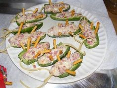 Jalapeno Chili Pepper Screamers: 7 Steps (with Pictures) Jalapeno Chili, Jalapeno Poppers, Kentucky Fried, Halloween Appetizers, Asparagus, Green Beans, Potato Salad, Zucchini, Fries