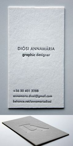 Minimal Letterpress Business Card